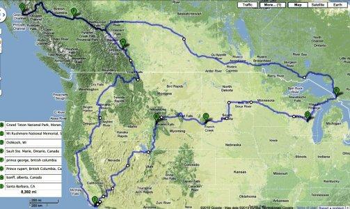 Trip Route v.4 - Terrain View