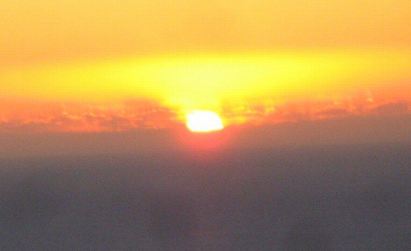 0827 Sunset behind us