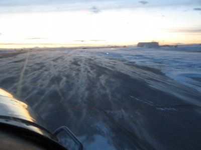1375 Snow river on runway