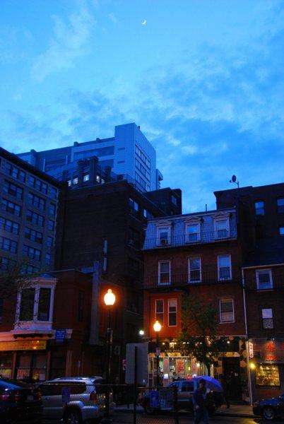 9437 Thin Moon Over Boston