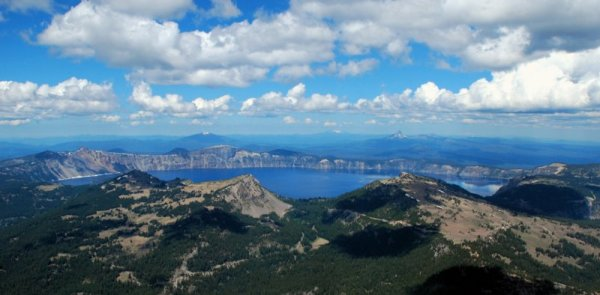 3770 Crater Lake & Distant Peaks