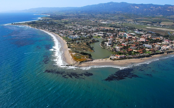 1315 UCSB & Sea from Air
