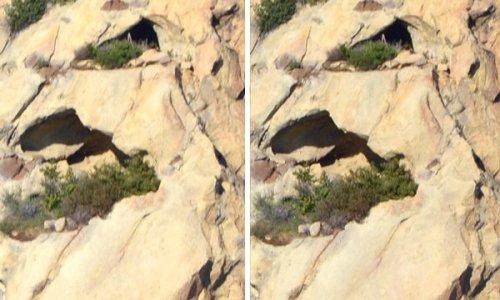 2742 3D Eye Rock Cave