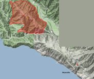Big Sur Fire 12-18-2013 perimeter map