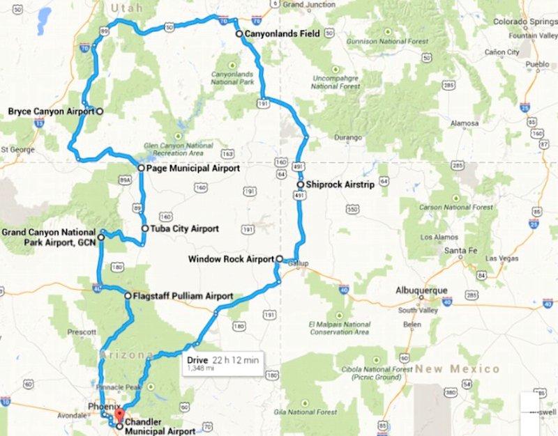4C Trip Drive Map