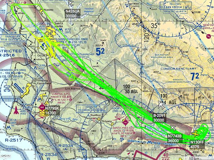 Rey Fire C-130 Track